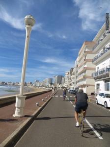 Cycling along the beach promenade